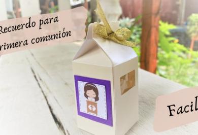 como hacer un recuerdito para primera comunion
